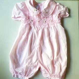 Preloved baby girl pink dolly romper