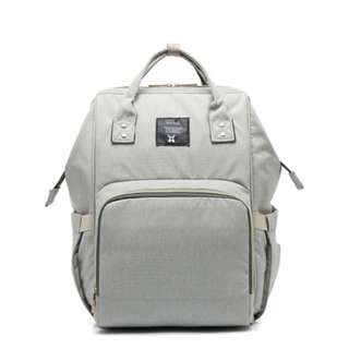 #15off READY STOCK! Mummy Diaper Bagpack (GREY)