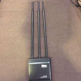 🚚 netis WF2409D 黑極光無線寬頻分享器