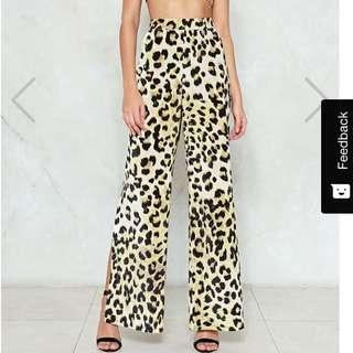 Nasty Gal Leopard pants