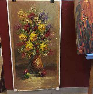 """""""Love of Bouquet"""" very thick oil painting"""