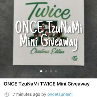ONCE TzuNaMi TWICE Mini Giveaway