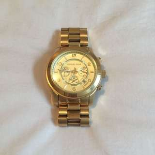 Michael Kors Gold Runaway Watch