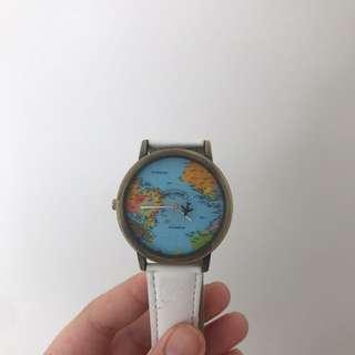 White globe watch
