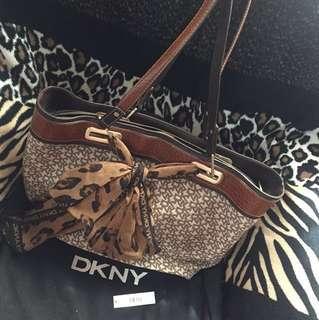 DKNY Camel Scarf Medium Tote Bag