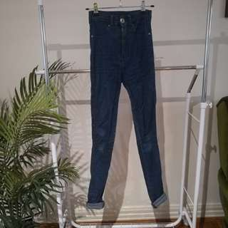 Dr Denim, High Rise, Skinny Jeans, Size S