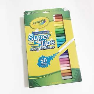 crayola supertips pack of 50