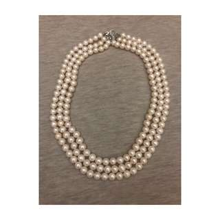Genuine 3 stacked pearl necklace from Phillipines