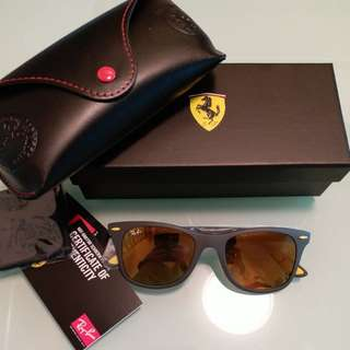 Original rayban RB 4195 FERARRI LIMITED EDITION YELLOW LENS