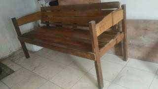 Wood couch for sale
