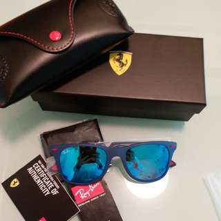 Original rayban RB 4195 FERARI LIMITED EDITION blue lens