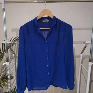 Vintage Sheer Shirt, Size S - M
