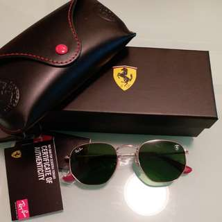 Original rayban RB 3548 FERARRI.LIMITED EDITION CLASSIC GREEN LENS