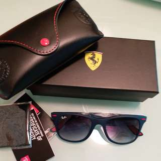 Original rayban RB 4195 FERARRI LIMITED EDITION BLACK LENS