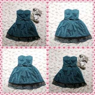 Dress -Blue Green