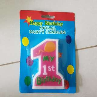 Birthday Candle For First Birthday