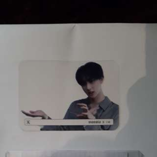 changkyun photocard transparent beautiful i.m monsta x