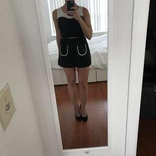 Black & White Shorts Playsuit
