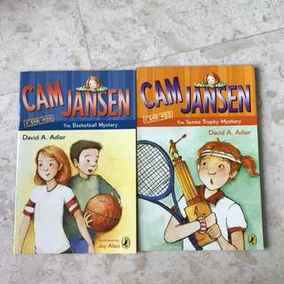 <The Basketball Mystery > < The Tennis Trophy Mystery> Cam Jansen