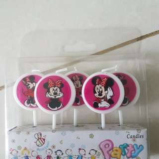 Minnie Mouse poppers candles