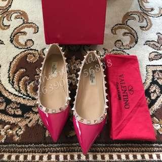 Valentino Rockstud Ballerina Plain Flats