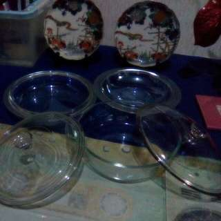 5 PCs,Sold As One Set ,From America,3 Serving Bowls And 2 Glassware Lids