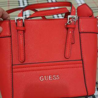 Guess bag mini delany red