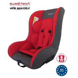 Sweet Heart Paris Safety Car Seat CS256 (New Red) with Washable Covers