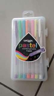Smiggle pastel gel pens