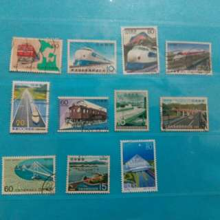 2 lots of Japanese stamps