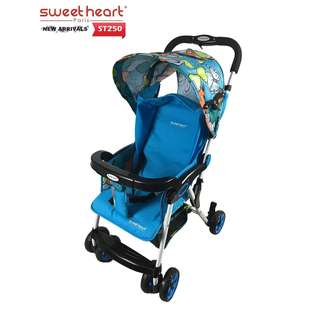 Sweet Heart Paris ST250 Iron Frame Stroller (Blue) with One-Handed Folding