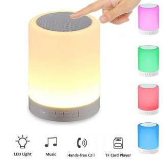Wireless Bluetooth Speaker Stereo Colorful Touch LED Light