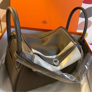 Brand New Hermes Lindy 30 Etoupe Clemence with PHW