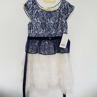 Blue-white Dress