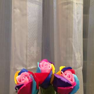 Scented Soap rainbow roses