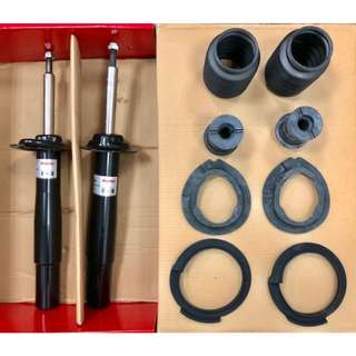 BMW E60 Suspension shock absorbers set with stopper and dustcover