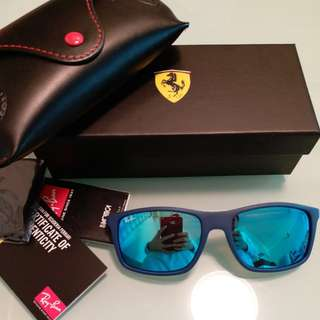 Original rayban RB4228 FERARRI LIMITED EDITION BLUE LENS