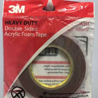 3M Heavy Duty Acrylic Foam Tape
