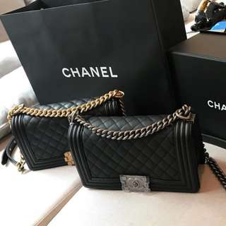 Brand New Chanel Boy Old Medium Black Caviar (MOST WANTED)