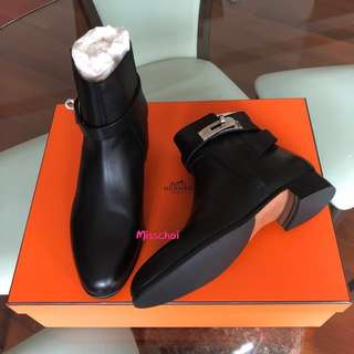 Hermes Neo Boots in Black Size 36
