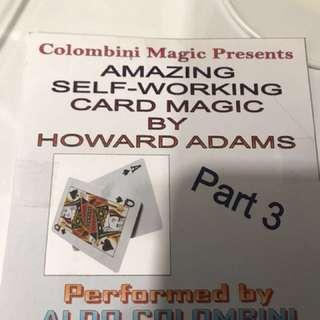 Self-working card tricks DVD tutorial