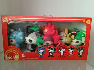 2008 Olympic Games set of Mascot plushies 福娃 set
