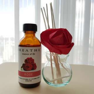 [Valentine's Day Gift] Breathe Flower Reed Diffuser with Premium Aromatherapy Fragrance Oil 60ml