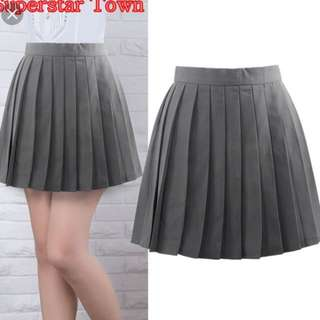 Grey tennis skater skirt