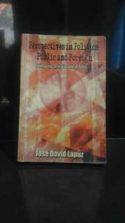 Perspectives in Politics - Public and Foreign by Prof. Jose David Lapuz
