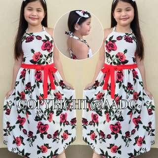 Halter Maxi Dress w/ Turban