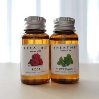 Breathe Rose and Peppermint Aroma Therapy Oil 10ml