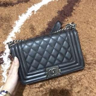 Chanel boy bag black mini sling tas cewek wanita