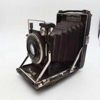 「早期蛇腹相機」 早期 古董 復古 懷舊 稀少 有緣 大同寶寶 黑松 沙士 鐵件 40年 50年