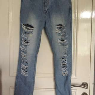 celana jeans robek